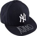 Baseball Collectibles:Hats, 2015 Andrew Miller American League Wild Card Game Worn & Signed New York Yankees Cap....