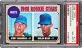 Baseball Cards:Singles (1960-1969), 1968 Topps Nolan Ryan - Mets Rookie Stars #177 PSA NM-MT 8....