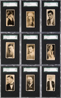 "Non-Sport Cards:Sets, 1929 Carreras ""Paramount Stars"" SGC High Grade Complete Set (27)...."