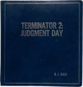 "Movie/TV Memorabilia:Documents, A Script from ""Terminator 2: Judgement Day.""..."