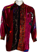 Music Memorabilia:Costumes, Elton John Worn Versace Velvet Shirt and The One RIAAPlatinum Sales Award (1991/92).... (Total: 2 Items)