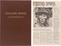 Music Memorabilia:Memorabilia, Rolling Stone Magazine Issues #1-15 Bound Volume (1967/68)....