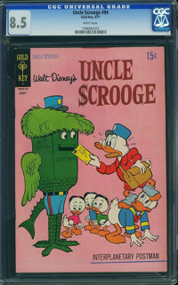 Uncle Scrooge #94 (Gold Key, 1971) CGC VF+ 8.5 White pages
