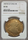 Chile, Chile: Charles IV gold 8 Escudos 1807 So-JF XF45 NGC,...