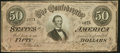 Confederate Notes, T66 $50 1864 PF-6....