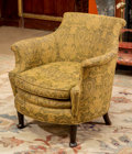 Furniture : French, An Empire-Style Upholstered Chair, 20th century. 29 h x 28 w x 29 dinches (73.7 x 71.1 x 73.7 cm). ...