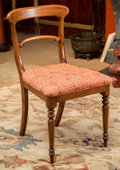 Furniture : Continental, A Swedish-Style Upholstered Mahogany Side Chair, late 19th century.33-3/4 h x 19 w x 17-3/4 d inches (85.7 x 48.3 x 45.1 cm...