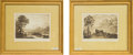 Decorative Arts, Continental, A Pair of Framed Mezzotint Prints after Claude Lorrain: No.172 and 141 from the Liber Veritatis. 1... (Total: 2Items)