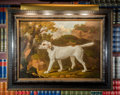 Paintings, A Hunting Dog Portrait Oil on Canvas . 34-1/4 x 44 inches (87.0 x 111.8 cm) (framed). ...