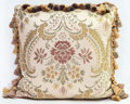 Rugs & Textiles:Textiles, A Floral Tasseled Pillow, 20th century. 16 inches high x 16 incheswide (40.6 x 40.6 cm). ...
