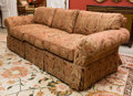 Furniture , A Fortuny-Style Upholstered Sofa, early 21st century. 30 h x 81 w x 37 d inches (76.2 x 205.7 x 94.0 cm). ...