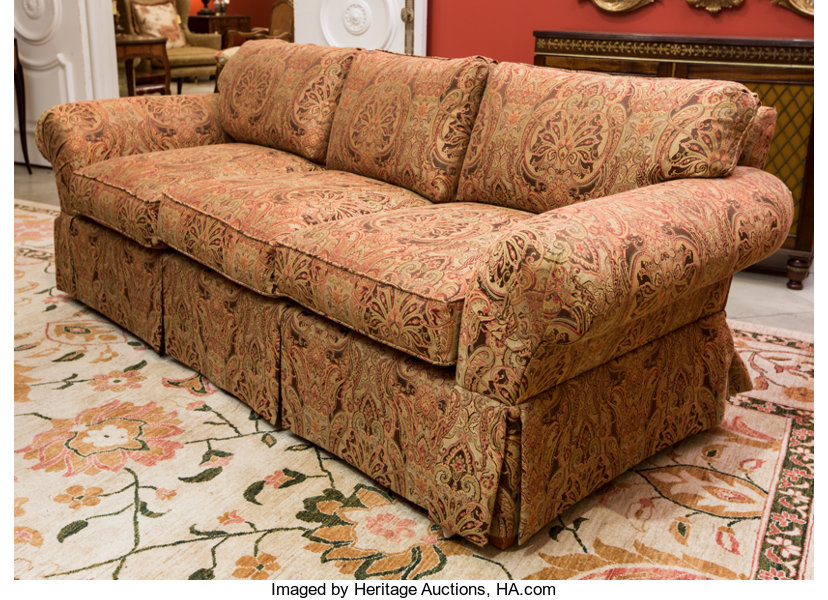 A Fortuny Style Upholstered Sofa Early 21st Century 30 H X