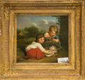 Paintings, A Pair Scenes of Children Playing Oils on Canvas, 19th century. 19-1/2 x 21 inches (49.5 x 53.3 cm) (framed). ...
