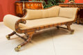 Furniture : English, A Regency-Style Carved Mahogany Grecian Couch, late 19th century. 29 h x 73 w x 26 d inches (73.7 x 185.4 x 66.0 cm). ...