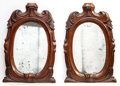 Furniture , A Pair of Regency-Style Carved Mahogany Mirrors, early 20th century. 25 inches high x 16 inches wide (63.5 x 40.6 cm). ... (Total: 2 Items)