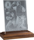 Baseball Collectibles:Others, 2003 Baseball Hall of Fame Induction Crystal Display from The GaryCarter Collection....