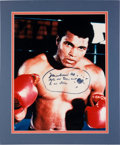 Boxing Collectibles:Autographs, 1980's Muhammad Ali Signed and Inscribed Oversized Photograph....