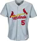 Baseball Collectibles:Uniforms, 2003-04 Albert Pujols Game Worn, Signed St. Louis Cardinals Jersey Gifted to Curt Schilling. ...