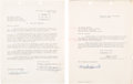 Movie/TV Memorabilia:Documents, A Marlon Brando Set of Signed Documents, 1960s....
