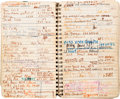 Movie/TV Memorabilia:Documents, A Sammy Davis, Jr. Address Book, Circa 1980s....