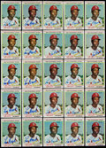 Baseball Cards:Lots, 1973-79 Topps Lou Brock Signed Cards Lot of 100....