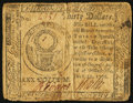 Colonial Notes:Continental Congress Issues, Continental Currency July 22, 1776 $30 Fine-Very Fine.. ...
