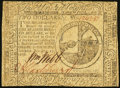 Continental Currency February 17, 1776 $2 Fine