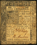 Colonial Notes:Delaware, Delaware January 1, 1776 1s Very Fine.. ...