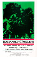 Music Memorabilia:Posters, Bob Marley And The Wailers Paramount Northwest Concert Poster(1977)....
