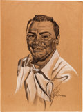 Movie/TV Memorabilia:Original Art, An Ernest Borgnine Group of Good Fan Art, 1950s-1990s.... (Total: 5Items)