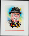 Movie/TV Memorabilia:Original Art, An Ernest Borgnine Group of Good Fan Art, 1970s-2000s.... (Total: 4Items)