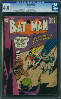 Batman #117 (DC, 1958) CGC VG 4.0 Off-white to white pages