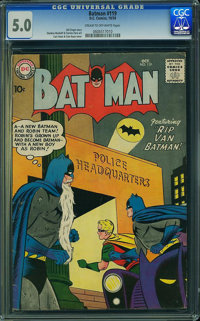 Batman #119 (DC, 1958) CGC VG/FN 5.0 Cream to off-white pages