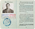Movie/TV Memorabilia:Documents, An Ernest Borgnine Twice-Signed Passport, 1949....