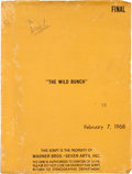 "Movie/TV Memorabilia:Documents, An Ernest Borgnine Script from ""The Wild Bunch.""..."