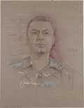 "Movie/TV Memorabilia:Original Art, An Ernest Borgnine Portrait Related to ""From Here to Eternity,"" Circa 1990s...."
