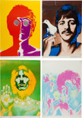 Music Memorabilia:Memorabilia, A Full Set of Psychedelic Beatles Portrait Posters By RichardAvedon for Daily Express Newspaper (UK, ...