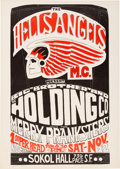 Music Memorabilia:Posters, Big Brother And The Holding Company/ Merry Pranksters Sokol HallConcert Poster AOR-2.247 (1966). Rare....