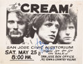 Music Memorabilia:Autographs and Signed Items, Cream San Jose Civic Auditorium Concert Handbill Signed By JackBruce (1968)....