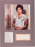 """Music Memorabilia:Autographs and Signed Items, Bruce Springsteen Part Lyrics For """"Something In The Night"""" AndSigned LP (circa 1978)...."""