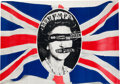 "Music Memorabilia:Posters, Sex Pistols ""God Save The Queen"" Promo Poster (Virgin, 1977)...."