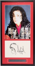 Music Memorabilia:Autographs and Signed Items, Michael Jackson Signed Sketch....