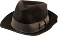 Music Memorabilia:Autographs and Signed Items, Michael Jackson Signed and Inscribed Wool Fedora (1998)....
