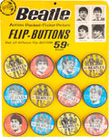 Music Memorabilia:Memorabilia, Beatles Original Flasher Buttons Counter Display Complete withTwelve Buttons (Saymore, circa 1964)....