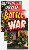 Golden Age (1938-1955):War, Atlas Golden and Silver Age War Comics Group of 4 (Atlas, 1952-57)Condition: Average VG-.... (Total: 4 Comic Books)
