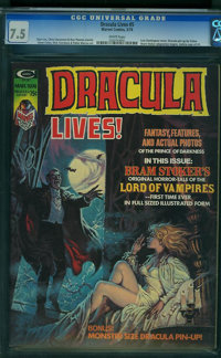 Dracula Lives! #5 (Marvel, 1974) CGC VF- 7.5 White pages