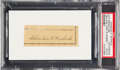 "Baseball Collectibles:Others, Circa 1950 Charles ""Kid"" Nichols Signed Cut Signature. ..."
