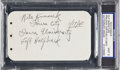 Football Collectibles:Others, 1940 Nile Kinnick Signed Cut Signature with Inscription - Dated A Month After Winning Heisman Trophy. ...