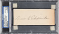 Baseball Collectibles:Others, 1940's Grover Cleveland Alexander Signed Cut Signature. ...