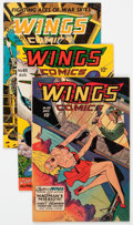 Golden Age (1938-1955):War, Wings Comics Group of 8 (Fiction House, 1945-49) Condition: AverageFN-.... (Total: 8 Comic Books)
